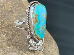 Navajo Native American Sterling Silver Spiderweb Turquoise Ring Sz 9 Gift 285