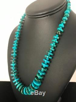 Navajo Pearls St Silver Spider Web Turquoise Mens Necklace Pendant Gift A398
