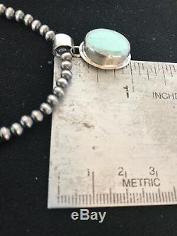 Navajo Pearls Sterling Silver DRY CREEK Turquoise Necklace PENDANT Gift 1251