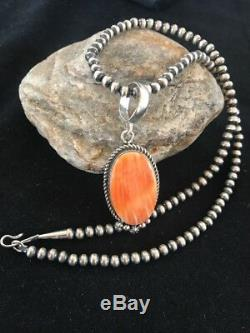 Navajo Sterling Silver Spiny Oyster Necklace Mens Womens Pendant Gift