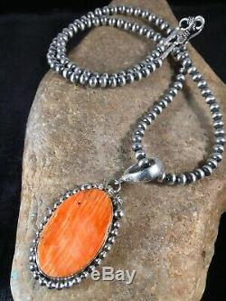 Navajo Sterling Silver Spiny Oyster Necklace Mens Womens Pendant Gift 8687