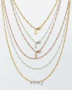 New PANDORA Shine Rose Gold Silver Beaded Chain Necklace 397210 387210 367210