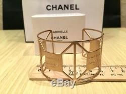 New Rare Vip Gift Chanel Gabrielle Metal Bracelet