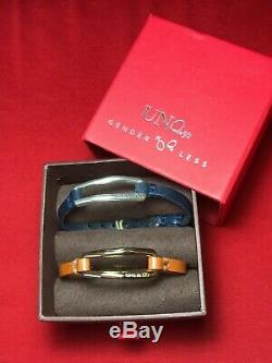 New UNO de 50 Tie Me Gold & Silver Leather Bracelet Gift Set NWT UNOde50