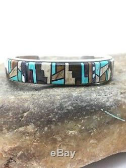 Old Pawn Gift Native American Navajo Sterling Silver CUFF Bracelet Handmade 4160