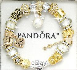 Pandora Bracelet 925 Silver Wife Gold Angel European Charms Pandora Box New Gift