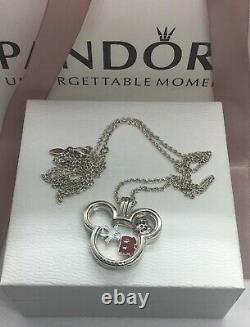 Pandora Disney 30 Floating Locket Mickey & 3 Petites ALES925 FREE GIFT BOX