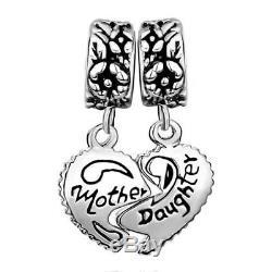 Pandora I Love You Bracelet Bead Charm Silver My Mum Heart Mother Daughter Gift