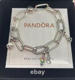 Pandora Me Link Bracelet 6,9 & 4 Charms ALES925 FREE GIFT BOX