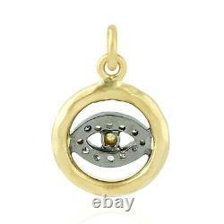 Pave Diamond Evil Eye Charm Pendant 925 Sterling Silver 14kt Gold Gift Jewelry