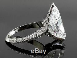 Pear Solitaire Women Engagement Ring Cz Highend Jewelry Gift 925 Sterling Silver