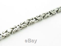 Platinum Sterling Silver. 925 Byzantine Ankle Anklet Bracelet New Gift