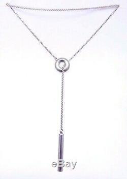 RETIRED Sterling Silver GEORG JENSEN DENMARK 28 Lariat Necklace DESIGNER Gift