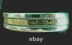 Roderick Tenorio Relios 925 Silver And 14k Gold Cuff Bracelet Signed W Gift Box