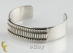 Ron Yazzie Native American Sterling Silver Bracelet Cuff, Great Gift