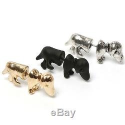 SAUSAGE DOG EARRINGS STUD SILVER Plated Party Gift DACHSHUND Birthday Present