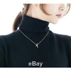 STYLUS Jewelry Pink Gold V Necklace Silver925 K Drama Goblin Gift