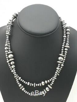 Sale Gift 36in Long Navajo Pearls Native American Sterling Silver Necklace 4378