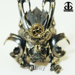 Samurai Helmet Sterling Silver 925 Ring Jewelry Gift 18K Gold Handmade Original