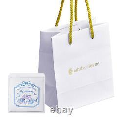 Sanrio My Melody Kuromi Heart Necklace Plush Doll Silver Gift Box Japan New