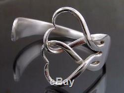Silver Plated Fork Heart Bracelet Bangle Unusual Gift Vintage Unique Cutlery