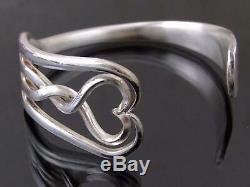 Silver Plated Heart Fork Bracelet Bangle Unusual Gift Vintage Unique