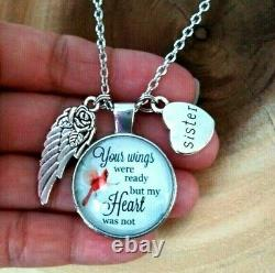 Sister Best Friend Memorial Loss Silver Charm Pendant Necklace Gift Forever