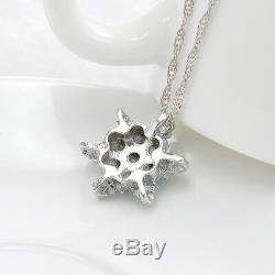Snow Flake Pendant Necklace Winter Necklace Flower Woman Gift Silver Gold USA