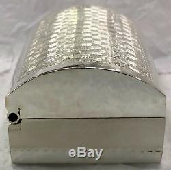 Sterling Silver 925 Jewellery Pill Treats Box Engine Turning Design Gift Home
