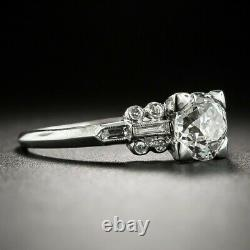 Stuning Vintage Art Deco Engagement Gift Ring 2.3 Ct Diamond 925 Sterling Silver