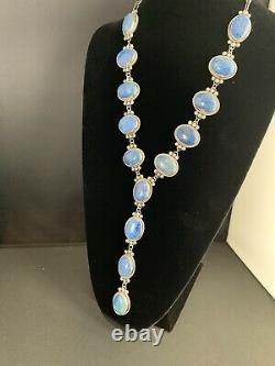 Stunning Gift NAVAJO Sterling Silver Denim Lapis Lazuli LARIAT 37Necklace 4955