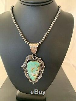 Stunning Navajo Sterling Silver ROYSTON TURQUOISE Necklace PENDANT 4125 Gift