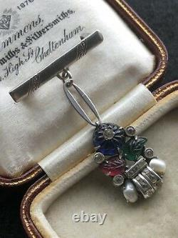 Stunning Vintage Trifari Tutti Frutti Pearl Nib Dropper Brooch Gift Wrapped
