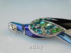 Swarovski Parrot Bird Of Paradise Balabac Pin Brooch Silver 925. Grt 2020 Gift