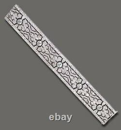 Syn Diamond Lace Bracelet Handmade 925 Sterling Silver Jewelry Anniversary Gift