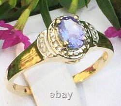 Tanzanite rings genuine Tanzanite engagement ring 925 sterling silver women gift