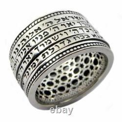 The Four blessings Ring Jewish Gift Kabbalah Jewelry Judaica Talisman Silver 925