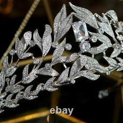 Tiaras Leaf Crystals Bridal Crown Jewelry Wedding Women Hair Accessories Gifts