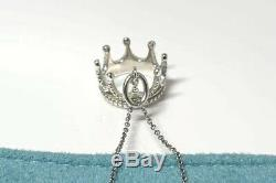Tiffany & Co Crown Necklace Sterling Silver Jewelry Gift Pendant Charm Box