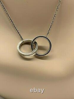 Tiffany & Co. Necklace Circle Silver 925 602516 Interlocking Rings with gift bag