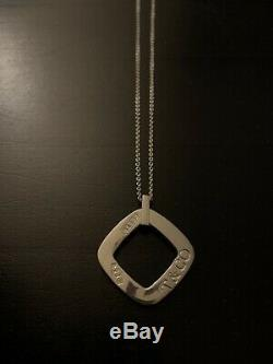 Tiffany & Co Necklace Sterling Silver Jewelry Accessory Gift Pendant 1837 Square
