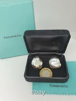 Tiffany & Co Sterling Silver 925 Elsa Peretti Earrings with Jewellery gift box