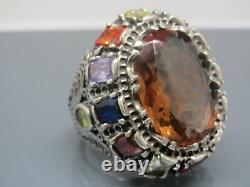 Turkish Handmade Jewelry 925 Sterling Silver Alexandrite Stone Men Ring Sz 11