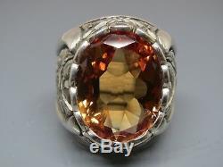 Turkish Handmade Jewelry 925 Sterling Silver Alexandrite Stone Men's Ring Sz 10