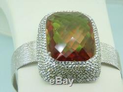Turkish Handmade Jewelry 925 Sterling Silver Alexandrite Stone Women Bangle