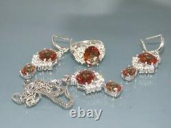 Turkish Handmade Jewelry 925 Sterling Silver Alexandrite Stone Women Earring Set