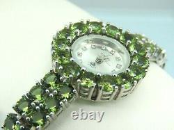 Turkish Handmade Jewelry 925 Sterling Silver Alexandrite Stone Women Wristwatch