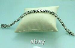 Turkish Handmade Jewelry 925 Sterling Silver Braid Design Men Bracelet