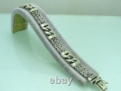Turkish Handmade Jewelry 925 Sterling Silver King Design Men Bracelet