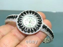 Turkish Handmade Jewelry 925 Sterling Silver Onyx Stone Women Watches